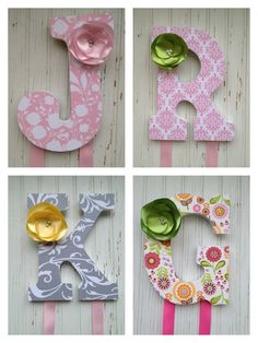 9 Custom Bow Holder Custom Letters Personalized by ChicSomethings, $16.50