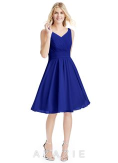 $99 Azazie Bridesmaid Dress - Grace in Chiffon. Find the perfect made-to-order bridesmaid dresses for your bridal party in your favorite color, style and fabric at Azazie.