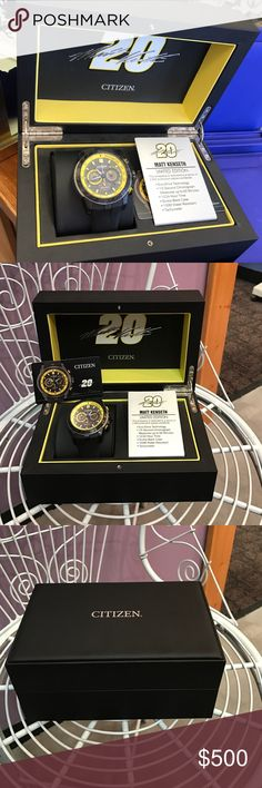 Men's Watch Matt Kenseth Limited Edition. This timepiece is restricted to a series of 2500 production pieces worldwide!! brand-new with tags's. citzien Accessories Watches
