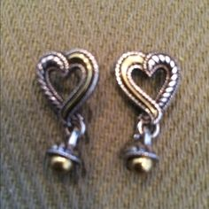 Brighton earrings Silver Brighton earrings with gold trim Brighton Jewelry Earrings