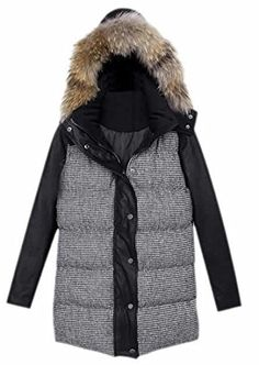 Generic Mens Lightweight Packable Splice Down Jacket Puffer Winter Coat Jacket