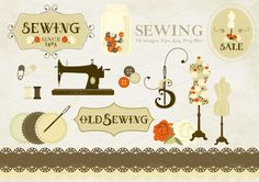 sewing patterns clipart - Google Search