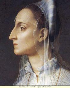Agnolo Bronzino. Portrait of Laura Battiferri. Detail. Olga's Gallery.