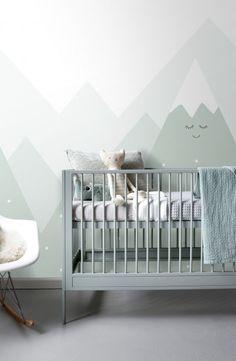 Fantastic Wallpapers, Baby Bedroom, Nursery Inspiration, Interiores Design, Cribs, Home Decor, Child Room, Yurts, Mountain Nursery