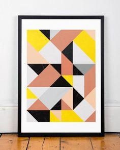 Impresi n monta as abstracto arte pared geom trica por for Minimal art resumen