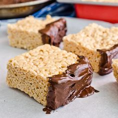Peanut Butter Rice Crispy Treats HealthyAperture.com