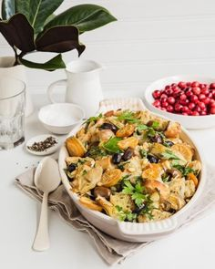 This is the STUFFING dreams are made of! A twist on a classic made with all those great Mediterranean flavors. Perfect for your Thanksgiving and Holiday table!  #currentlycoveting #holidays2015 #holidaze #holidaystyle