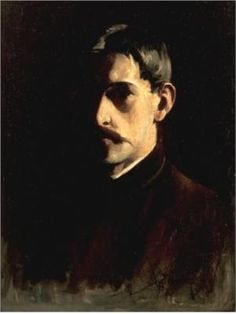 Self-Portrait ~ Willard Metcalf (American, 1858 - 1925)  Willard Metcalf was an impressionist painter who belonged to The Group of Ten,  American painters who first exhibited together in 1898, in New York City.  The members of the Ten were Childe Hassam, John Henry Twachtman, J. Alden Weir, Thomas W. Dewing, Joseph De Camp, Frank W. Benson, Willard Leroy Metcalf, Edmund Tarbell, Robert Reid, and E.E. Simmons. When Twachtman died in 1902, William Merritt Chase replaced him.