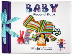 Baby Record Book Baby Record Book, Baby Records, Fabric Animals, Recorded Books, Recycled Fabric, Dinosaur Stuffed Animal, Recycling, Toys, Activity Toys