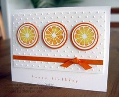 Tarty & Tangy Summertime Birthday Card by ButterflyGirl000 - Cards and Paper Crafts at Splitcoaststampers