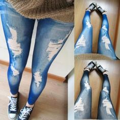 Korean Style Fashion Women's Casual Stretch Pencil Slim Skinny Jeans Jegging Trouser Legging