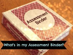 Assessment Binder for a Special Education Classroom by theautismhelper.com.