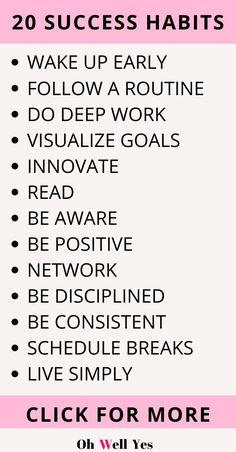 20 Brilliant Habits of Super Successful People