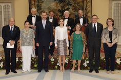Queens & Princesses - King Felipe and Queen Letizia attended the annual meeting of the Princess of the Asturias foundation, which was held at El Pardo Palace in Madrid.
