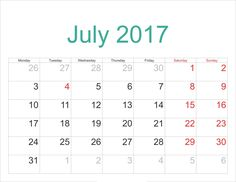 Free Printable Calendar July 2017 Itu0027s New Year And We Have Another Great  Design And Template Of Our Calendar For This 2017 And In This Ju.