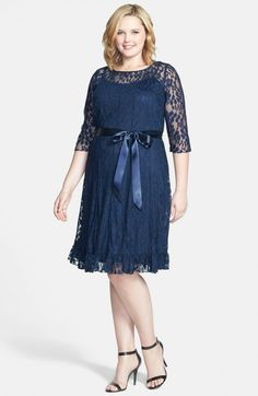 Jessica Howard Lace Dress Plus Navy 22w | Clothing
