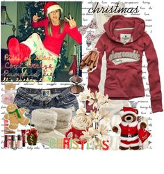 """""""christmas♥"""" by charlotte-xoxo ❤ liked on Polyvore"""