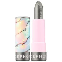 Sephora Collection Lipstick 48 Just Add Tinsel (metal finish) oz/ 4 g Lipstick For Fair Skin, Lipstick Art, Lip Art, Lipstick Colors, Lip Colors, Vivid Colors, Sephora Lipstick, Lipstick Swatches, Sephora Makeup
