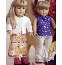 K2878, Doll Clothes Kwik Sew Patterns, Doll Sewing Patterns, Doll Clothes Patterns, Clothing Patterns, Sewing Ideas, Girl Outfits, Casual Outfits, Doll Clothes Barbie, American Girl Clothes
