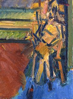 Frank Auerbach (1937) was a German born figurative painter, who focuses on portraits and city scenes in and around the area of London.  His paintings deal with the attempt to resolve the experience of being in the world in paint. In this the experience of the world is seen as essentially chaotic with the role of the artist being to impose an order upon that chaos and record that order in the painting. He came to England under the Kindertransport scheme at age of 7.
