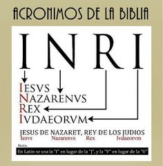 I always wondered what the letters INRI on crucifixes stood for! Jesus the Nazarene, King of the Jews. Religion Catolica, Catholic Religion, Catholic Quotes, Catholic Prayers, Bible Scriptures, Bible Quotes, Bible Knowledge, Religious Education, Roman Catholic