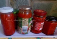 Bolognai szósz télire Canning Pickles, Bologna, Ketchup, Salsa, Soup, Jar, Gravy, Salsa Music, Restaurant Salsa
