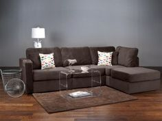 Sactionals Four Cushion   Chaise Sectional