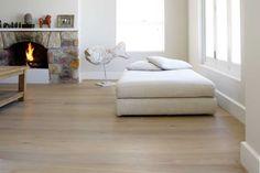 rottingdean Oak Hardwood Flooring, Wide Plank Flooring, Limestone Tile, Oil Mix, Tile Patterns, Ottoman, Interior Decorating, Denmark, Furniture