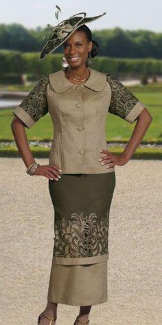 Donna Vinci 11196 Womens Linen Church Suit
