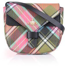 Vivienne Westwood Edinburgh 43030008 Small Crossbody Bag ($520) ❤ liked on Polyvore featuring bags, handbags, shoulder bags, zipper handbags, plaid shoulder bag, crossbody handbag, tartan plaid handbags and zip handbag