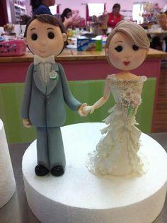 Bride  Groom, polymer clay
