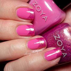 Zoya Rooney and Binx - chevron french tip manicure     Sassy Shelly