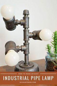 DIY Industrial Pipe Lamp – DIY Huntress