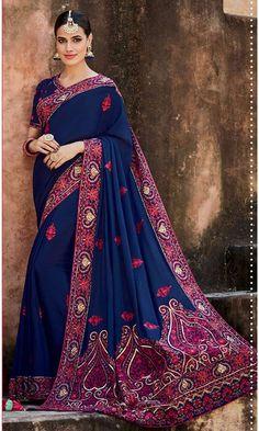 Shop self design Blue Designer Wedding Saree (SKU Code : SAEBRKM052A) Online at IshiMaya Fashion