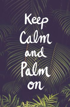 Keep calm and palm on