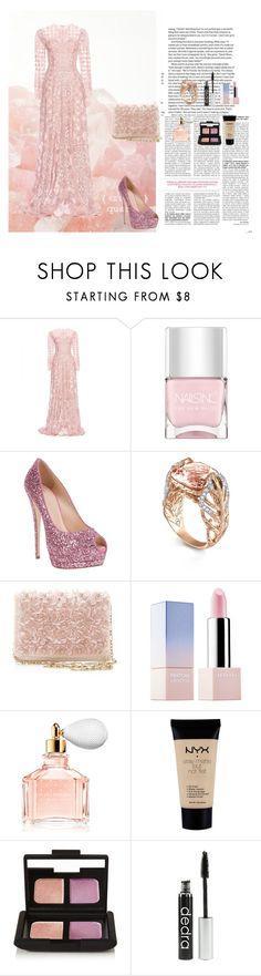 """""""Pink Crystal"""" by oksana-kolesnyk ❤ liked on Polyvore featuring Zuhair Murad, Nails Inc., Giuseppe Zanotti, John Hardy, Oscar de la Renta, Sephora Collection, Guerlain, NYX and NARS Cosmetics"""