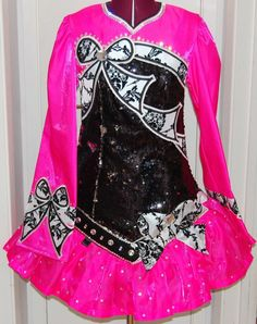 Gorgeous Pink KDSF Irish Dance Dress Solo Costume For Sale