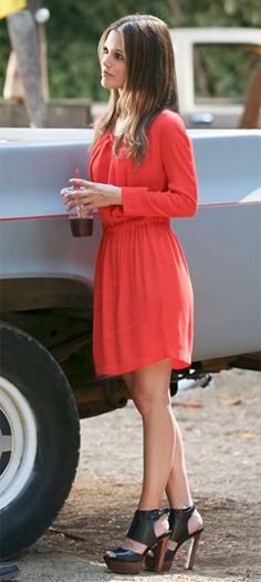 Hart of Dixie Style and Fashion: Zoe Hart (Rachel Bilson) wore a sandro Gathered Waist Dress on HART OF DIXIE Season 2 Episode 2 Always On My Mind