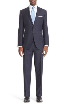 Canali Classic Fit Check Wool Suit