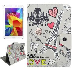 Universal 7 Inches Tower and Cartoon Words Pattern Horizontal Flip Leather Case with Holder for Samsung Galaxy Tab 4 / T231 & Galaxy Tab 3 Lite / T110, Asus Fonepad 7 / FE171MG, Colorfly G708