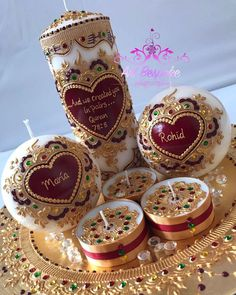 Candles - Wedding Henna Candles, Diy Candles, Scented Candles, Pakistani Mehndi Decor, Candle Art, Wedding Gift Wrapping, Diwali Gifts, Natural Candles, Candlemaking