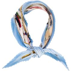Pre-owned Hermès Plissé Scarf (4,665 MXN) ❤ liked on Polyvore featuring accessories, scarves, blue, colorful shawl, colorful scarves, hermes scarves, silk scarves and multi colored scarves