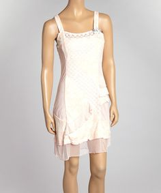 Take a look at the Farinelli Pink Mesh Ruffle Shift Dress on #zulily today!