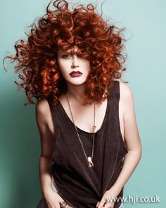 Red corkscrew curls    Hairstyle by: Tracey Hughes  Hairstyle picture by: Amber Toms  Salon: Mieka Hairdressing  Location: Melbourne #HJColour