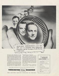 1955 Torrington Needle Bearings Ad Engineers by AdVintageCom