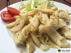 Těstoviny na pórku a tofu Tempeh, Tofu, Potato Salad, Cabbage, Potatoes, Vegetables, Ethnic Recipes, Potato, Cabbages