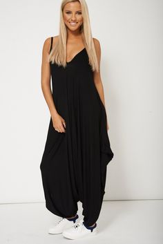 4c671f0d56b6 Glamorous Sleeveless Andy Pandy In Black UK Glamour