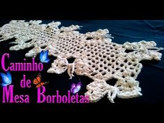 Caminho de Mesa em Crochê com Borboletas - YouTube