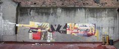 Acrylic paint on wall #brushes - Velvet & Zoer - CSX - Mexico DF 013  #velvetcsx #zoerism #painting #graffiti #acrylic #mexico