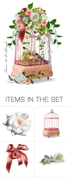 """""""Pink Bird Cage"""" by emjule ❤ liked on Polyvore featuring art"""